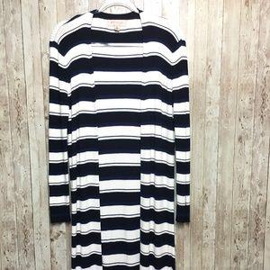 Philosophy Striped Long Sleeves Cardigan Sweater M